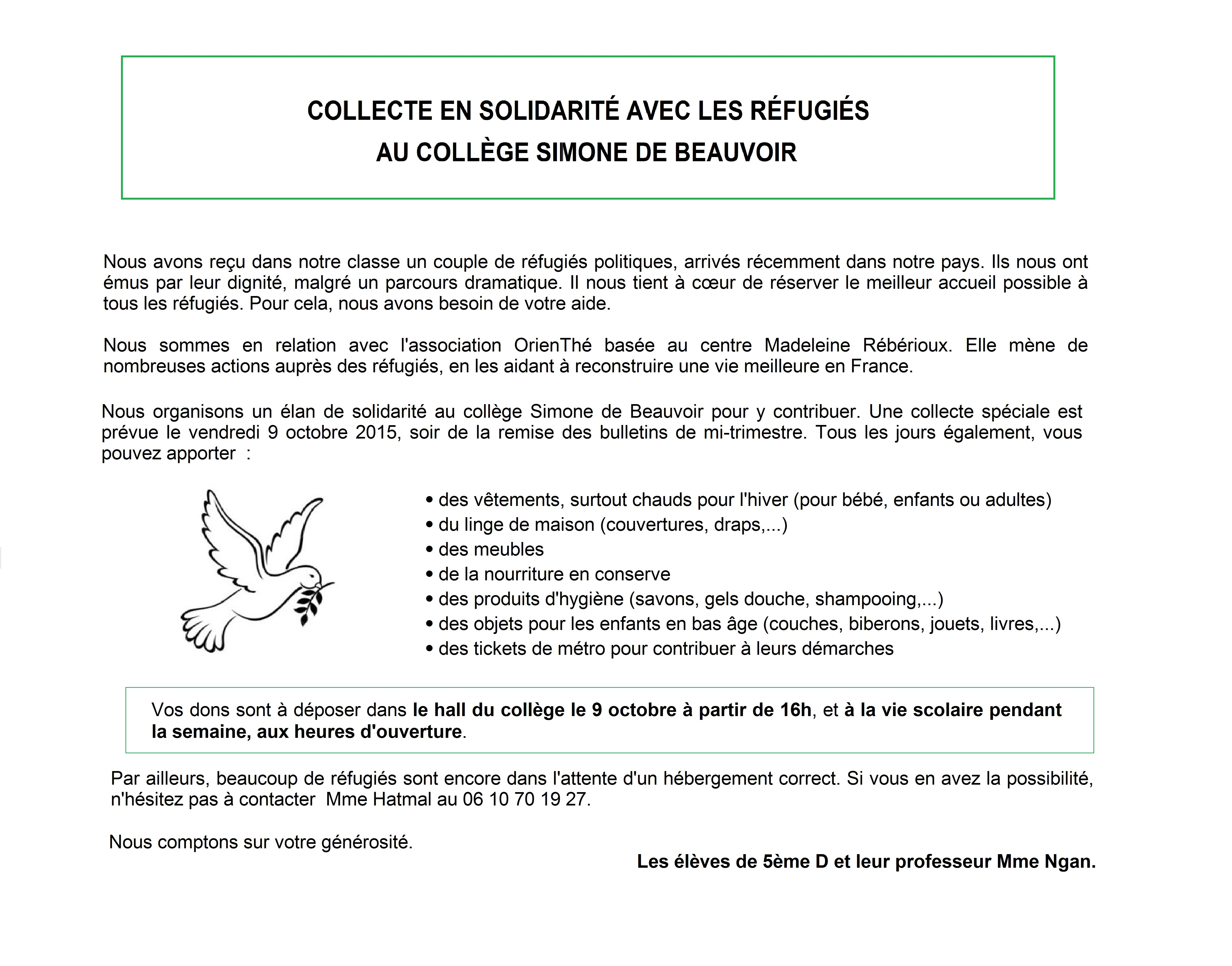 Tract collecte